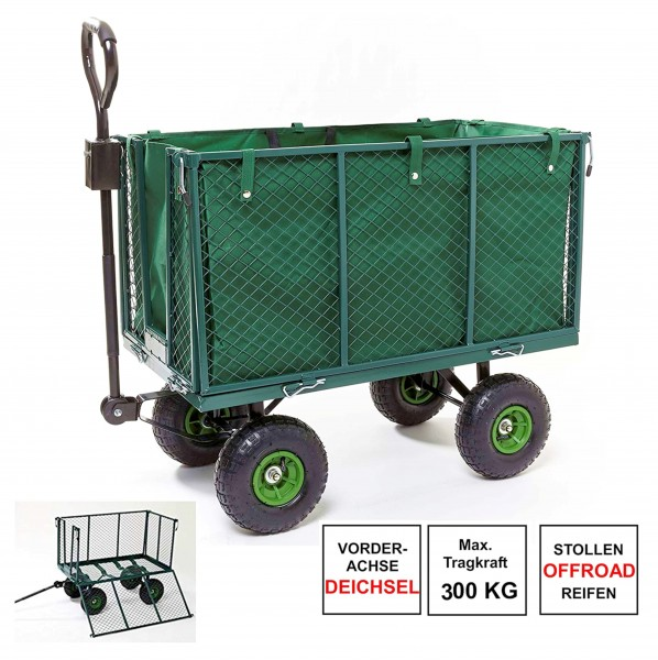 Bollerwagen-Gartenwagen-Handwagen-300kg-Traktorkupplung-Luftreifen-izzy-81007