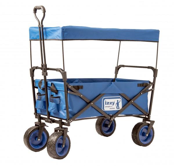 Bollerwagen-Kinder-faltbar-Bremse-Dach-blau-Handwagen-Transportwagen-Izzy-rcee-74045