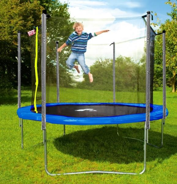 Kinder-Gartentrampolin-305cm-sicherkeitsnetz-125kg-tragkraft-izzy-sport