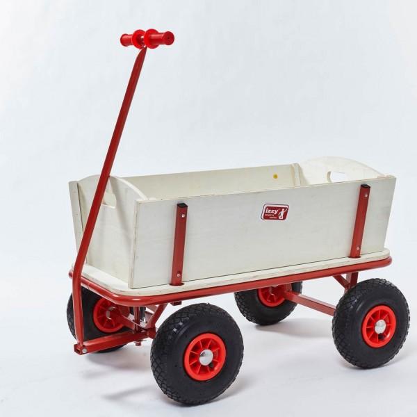 Bollerwagen-Holz-100kg-Tragkraft-natur-Metall-Luftreifen-Izzy-74044