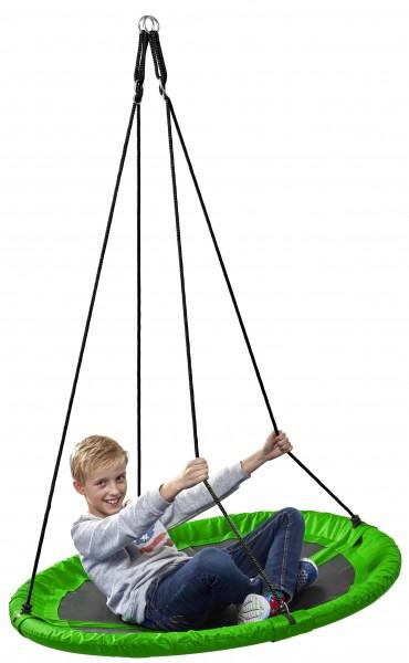 Nestschaukel-Kinder-grün-110cm-Tüv-Rheinland-GS-150kg-rund-Garten-Schaukel-izzy-rcee-73226