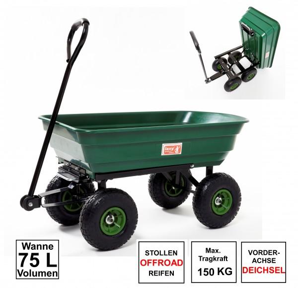 Bollerwagen-Gartenwagen-kippbar-Wanne-75l-300kg-tragkraft-Luftreifen-izzy-81002