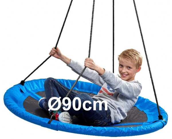 Nestschaukel-Kinder-blau-90cm-150kg-rund-Garten-Schaukel-izzy-rcee-73301