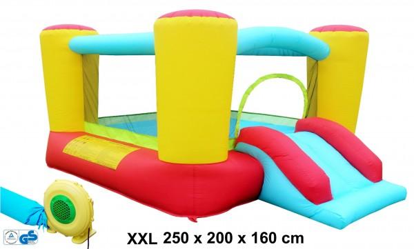 Hüpfburg-Komplett-Set-mit-Blower-aufblasbar-Maße-250x200x260cm-Izzy-79701