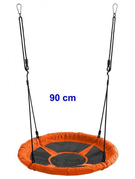 Nestschaukel-Kinder-orange-90cm-150kg-rund-Garten-Schaukel-izzy-rcee-73302