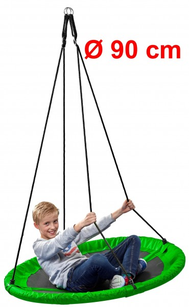 Nestschaukel-Kinder-grün-90cm-150kg-rund-Garten-Schaukel-izzy-rcee-73300