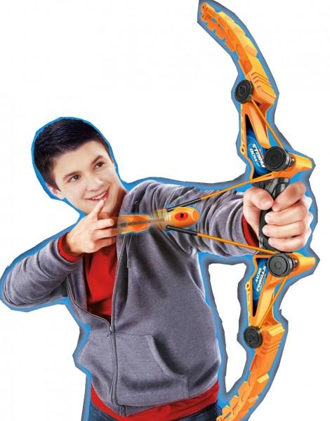 Kinder-Bogenschießen-bogen-orange-Softpfeile-Schießspiele-izzy-sport
