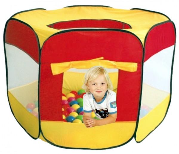 Pop-Up-Spielzelt-Spielhaus-100-Spielbälle-bunt-6cm-izzy-74079